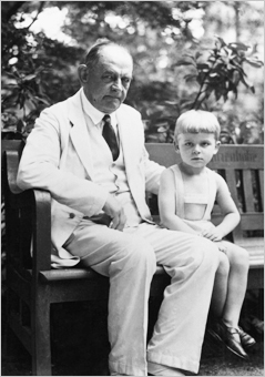 Georg Groddeck With his grand-nephew
