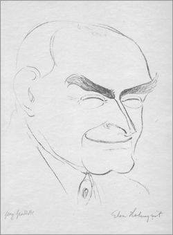 Georg Groddeck, Caricature